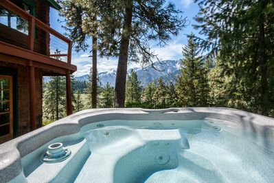 Relax and enjoy the view from the hot tub.