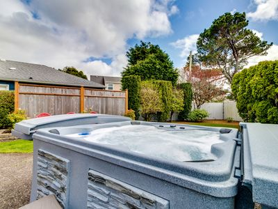 Photo for Charming, well-lit home w/ hot tub - 3 blocks to the beach and 1 block to golf
