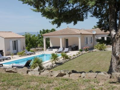 Photo for Spacious villa with private pool, infrared sauna and absolute privacy