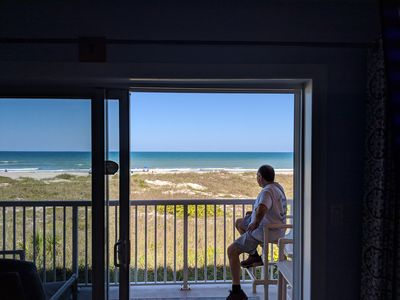 One of our guests enjoying the view! This could be YOU!