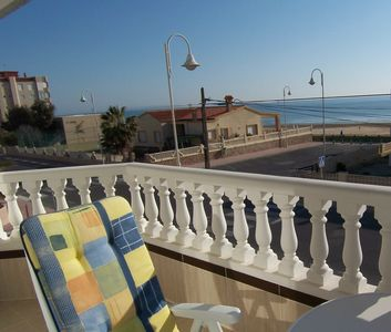 Photo for Fabulous beachfront location in Guardamar, sleeps 2-6, air con and parking