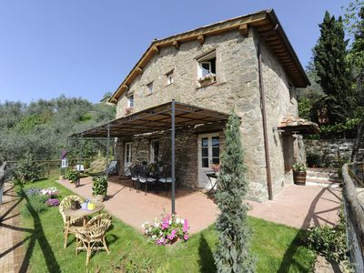 Photo for Typical Tuscan house.Great view on Lucca.Private parking/garden.WIFI