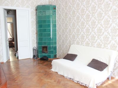 Photo for Beautiful old apartment in centre. WiFi.