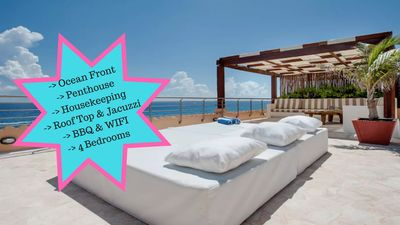 Riviera Maya Haciendas, Al Cielo - Roof Top With Jacuzzi & Chaises Lounges