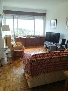 Photo for Cozy and Sunny Apartment, Great Views, Beaches 10min, Train to Lisbon & Cascais.