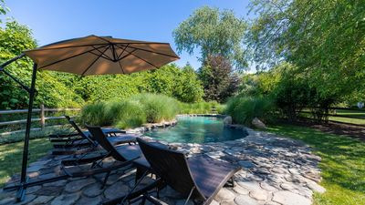 Photo for New Listing: High-End 8-Acre, 2-Home Estate on Shelter Island w/ Manicured Gardens & Heated Pool
