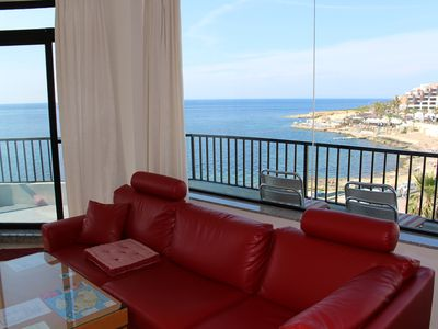 Photo for Central Seafront Apartment With Wide-Open Views Enjoyed From Inside And Out,