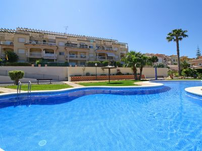 Photo for Holiday Apartment Casanova B with pool, located in the quietest area of Calpe