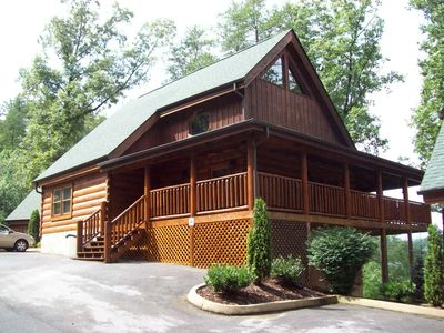 Photo for Perfect Log Cabin for Couples,and Families, Now with Theater!!