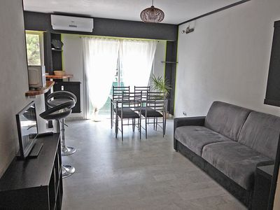 Photo for Nice Magnan, large studio equipped, beach 900m, private parking, wifi, air-conditioned