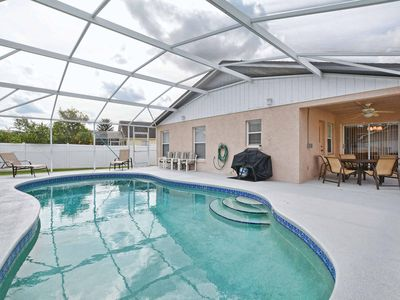 Photo for PRIVACY FENCE, BBQ GRILL. ONLY A FEW MINUTES FROM DISNEY, GROCERIES AND RESTAURANT