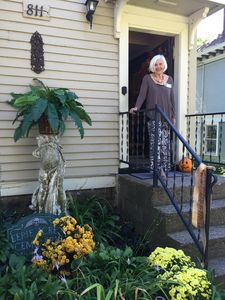 The owner waiting to greet you. The mansion was featured on city home tour 2016