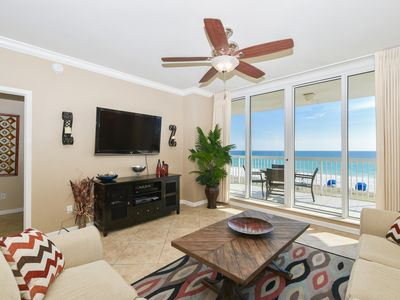 Photo for Beachfront Condo with Beach Chair Service Included: Views from Both Bedrooms😎