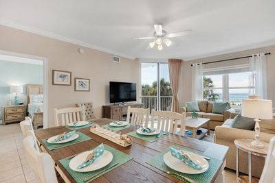 This bright and spacious condo has room for 2 families or a large group.