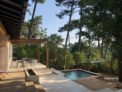 Photo for Villa for 9 in Cap-Ferret, in the pines, with basin preview.