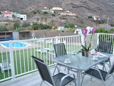 Photo for Mogán Sol, beautiful apartment with pool 3 km. of Puerto de Mogán