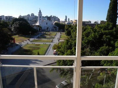 Colonial Church del Pilar, amazing breakfast view!