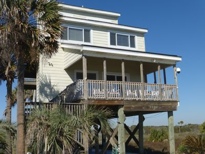 Photo for Oceanfront 4-5BR/3BA Home with 360 Degree Water Views! Folly Beach!