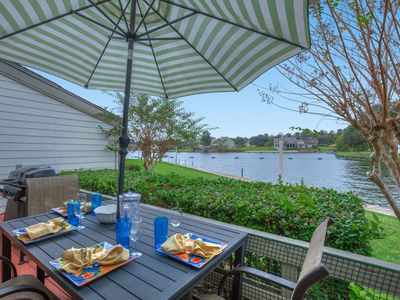 Photo for Fun Waterfront Condo in April Sound - next to Country Club, Pool, Golf, Fishing