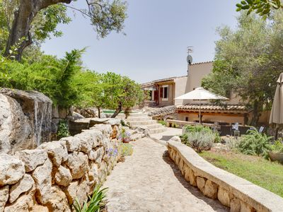 Photo for Finca for 6 adults and babies, beautiful garden with pool, in pure nature