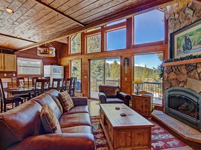 Photo for FREE SkyCard Activities - Mountain Valley Views, Close To Town, Gas Fireplace - Summit View Chalet