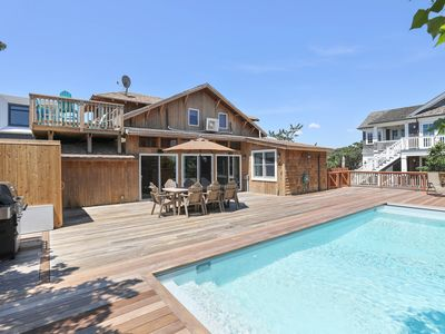 Photo for Spacious home w/ deck & private pool, outdoor shower, ocean views!