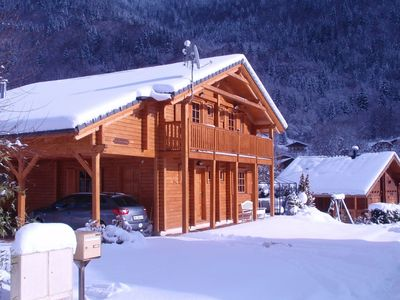 Photo for A spacious, tastefully furnished chalet with sauna in a traditional French village.