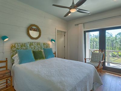 1st Level Queen Master bedroom with private bathroom and balcony