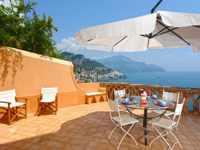 Photo for Amalfi Casa Dalì with terrace and sea view