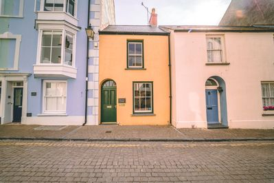 Easy to get everywhere.  Residential cobbled street, by beach, cafes, shops etc.