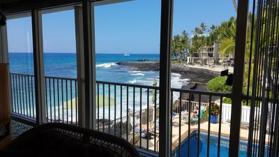 Photo for Right on Ocean - Waves and Sea Breezes! Quaint 12 unit Complex- A/C in Master