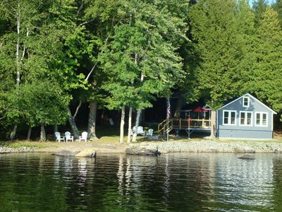 Photo for Charming 3 Bed Room Lake Front Cottage on Waters Edge, Sebasticook
