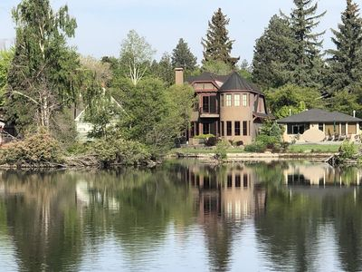 Photo for River Front on Mirror Pond and Drake Park, Gorgeous, Remodeled, Gourmet Kitchen