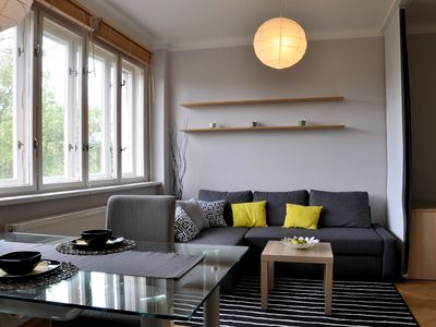 Photo for Nice apartment with garden, 10 mins to center