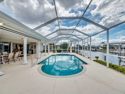 Photo for Waterfront Cape Coral Home w/ Lanai & Pool!