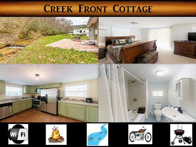 "Photo for ""Creek Front Cottage"" - Creek View / WiFi / Motorcycle Friendly / Wears Valley"