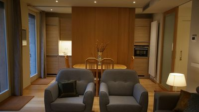 Photo for Beautifully furnished luxury one bedroom apartment with a small garden and pool