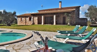 Photo for Villa Aileen - Stylish Newly Built Stone Villa with Air Conditioning, Private Pool and Outdoor Jacuzzi! - Free WiFi