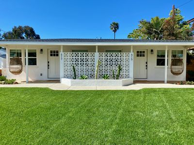 Photo for New Hip 'South Jetty Bungalow' - Yard w/ Hot Tub, Fire Pit + A/C + Washer/Dryer