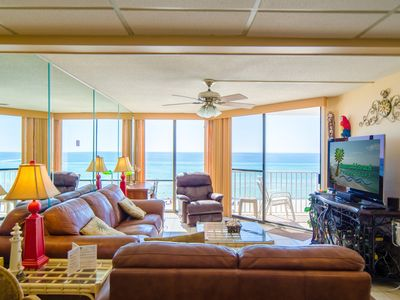 Photo for 25% Off 6/19-22!! Smack Dab On The Beach! 1 BR, 2 BA + Bunks. Beachfront King Master!