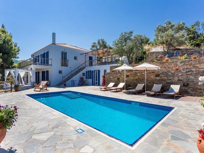 Photo for Villa Kerasi is a gorgeous new villa designed in traditional Skopelos style.