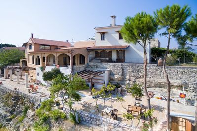 Amazing villa,13 persons,Almyrida,Chania,Bird's eye view of the property