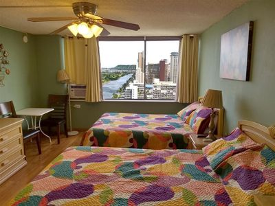 Photo for Charming Studio in Waikiki - 2 Full size Beds, Free Wi-Fi, Free Phone calls