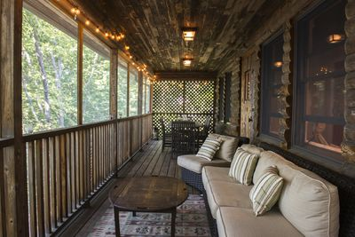 Porch to relax on or have family meals overlooking the water.