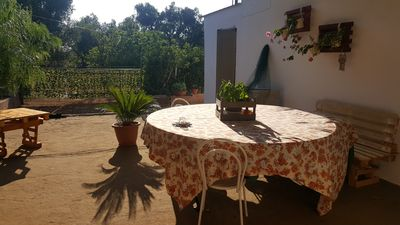 Photo for Holiday Apartment Villa Telli - surrounded by olive trees