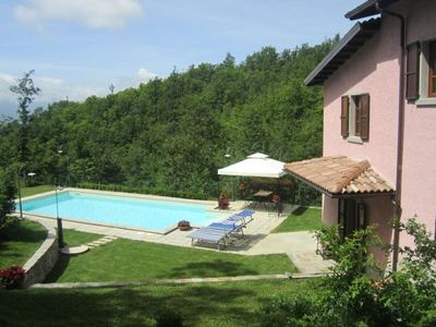 Detached and totally private property with own gardens and pool.