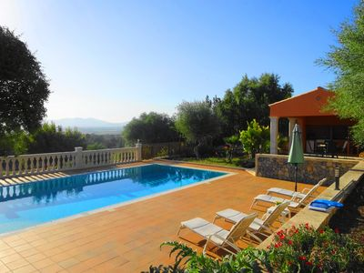 Photo for Beautiful villa with private pool, barbecue, views of the sea and bay of Palma