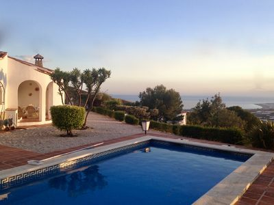Photo for Independent villa, magnificent sea views, private pool, WIFI