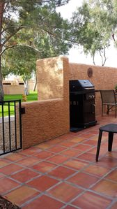 Front patio and BBQ