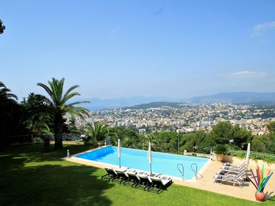 Photo for CALIFORNIAN LUXURY VILLA ON THE HEIGHTS OF CANNES 5 MINUTES FROM THE CENTER